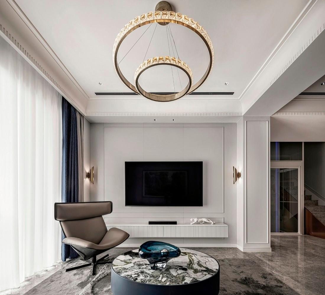 现代风格366㎡私人别墅-背景墙效果图