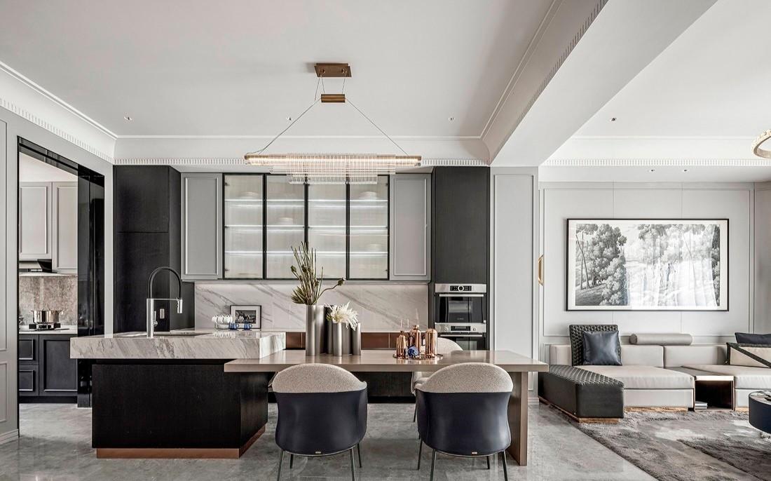 现代风格366㎡私人别墅-餐厅效果图