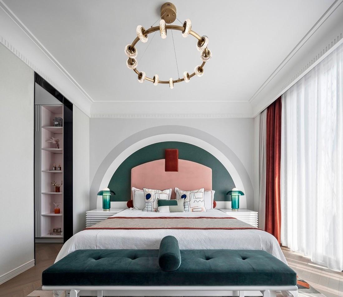 现代风格366㎡私人别墅-次卧效果图