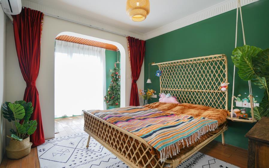 上海装修案例现代田园 色彩斑斓 美好与甜美的生活 三居110平