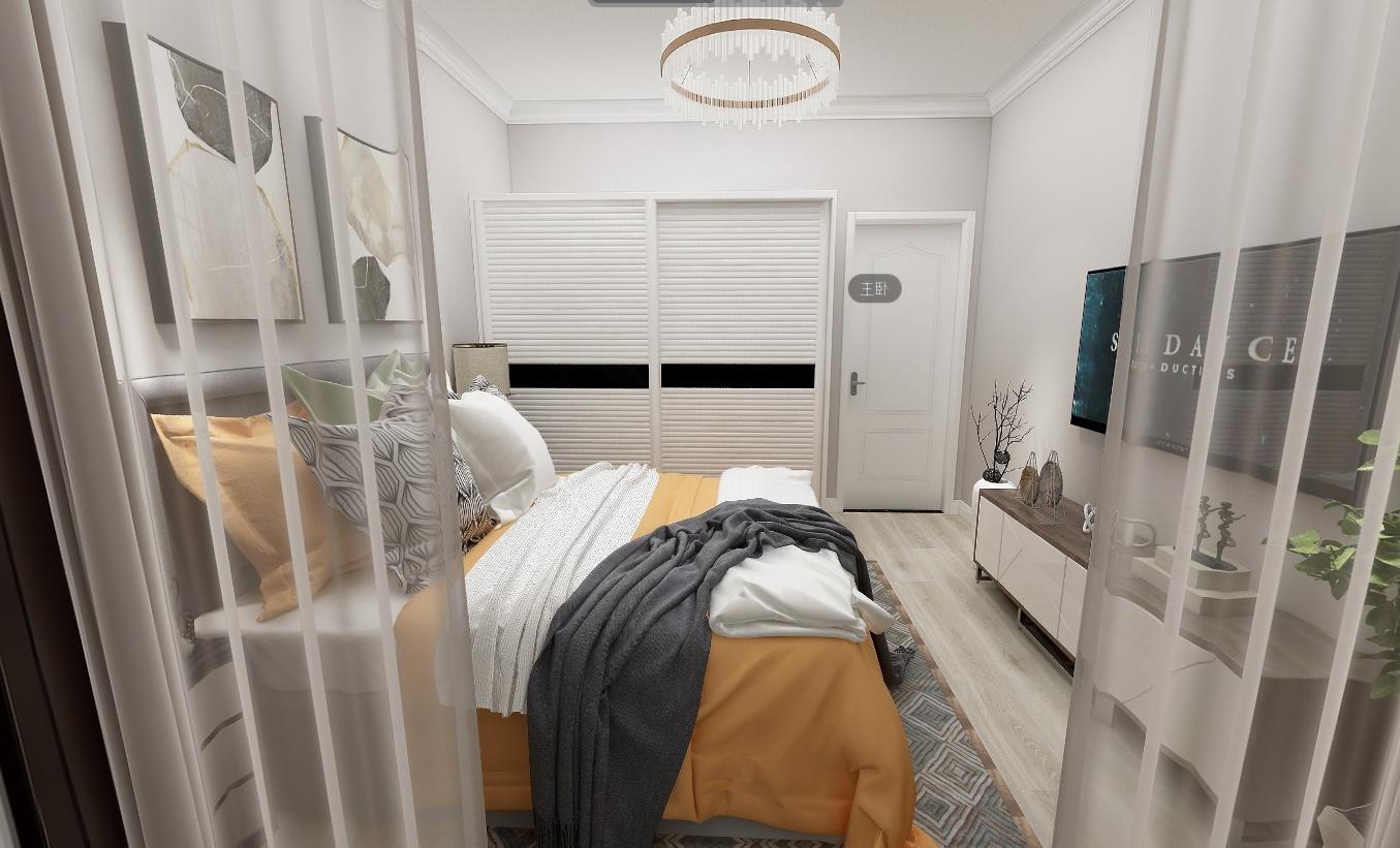 上海装修案例现代简约小公寓 25㎡小户型一房现代绿地领海  6万